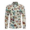 economico Camicie da uomo-Camicia Per uomo Con stampe, Fantasia floreale Colletto alla francese Nero XL-US38 / UK38 / EU46 / Manica lunga