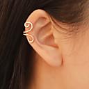 ieftine Cercei-Pentru femei Cătușe pentru urechi Cercei cu spirală Clasic Simplu Modă cercei Bijuterii Auriu / Negru / Argintiu Pentru Zilnic Muncă 1 buc
