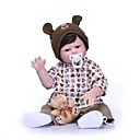 ieftine păpuși-NPKCOLLECTION Păpuși Renăscute Bebe Băiețel 20 inch Solid silicon din corp Vinil - natural Cadou Artificial Implantation Brown Eyes Lui Kid Băieți Jucarii Cadou