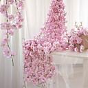 رخيصةأون ديكورات خشب-زهور اصطناعية 1 فرع معلقة على الحائط معلق حفلة الزفاف ساكورا سلة زهور