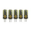abordables Luces LED de Doble Pin-5pcs 3 W 90-105 lm G4 Luces LED de Doble Pin T 48 Cuentas LED SMD 3014 Encantador Blanco Cálido Blanco Fresco 12 V