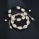 cheap Apple Watch Bands-Women's Loom Bracelet Aquarius Shell Tropical Bracelet Jewelry Black / Beige For Wedding Gift Carnival Going out Bikini