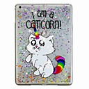 cheap iPad  Cases / Covers-Case For Apple iPad (2018) / iPad Air 2 Flowing Liquid / Pattern Back Cover Cat / Unicorn / Glitter Shine Hard PC for iPad Air / iPad (2018) / iPad Air 2