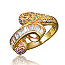 cheap Dog Collars, Harnesses & Leashes-Women's White Cubic Zirconia Classic Ring Promise Ring wrap ring 18K Gold Plated Imitation Diamond Statement Stylish Romantic Fashion Elegant Ring Jewelry Gold / Silver For Party Engagement Gift