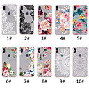 abordables Coques d'iPhone-Coque Pour Apple iPhone XR / iPhone XS Max Transparente / Motif Coque Impression de dentelle / Fleur Flexible TPU pour iPhone XS / iPhone XR / iPhone XS Max