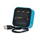 billige USB-hubs og kontakter-USB 2.0 to USB 2.0 USB Hub 3 Havne Med Kortlæser (e)