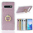 cheap Galaxy S Series Cases / Covers-Case For Samsung Galaxy Galaxy S10 / Galaxy S10 Plus Ring Holder / Glitter Shine Back Cover Solid Colored Soft TPU for S9 / S9 Plus / S8 Plus