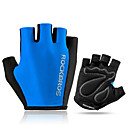 cheap Bike Lights-ROCKBROS Bike Gloves / Cycling Gloves Mountain Bike Gloves Lightweight Sunscreen Breathable Padded Half Finger Sports Gloves Sponge Mesh Terry Cloth Mountain Bike MTB Road Bike Cycling Green Blue Grey