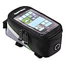 economico Borse per bicicletta-ROSWHEEL Bag Cell Phone / Marsupio triangolare da telaio bici 4.2/5.5/6.2 pollice Schermo touch, Riflessivo, Ompermeabile Ciclismo per Samsung Galaxy S6 / iPhone 5c / iPhone 4/4S Rosso