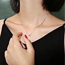 billige Mode Halskæde-Dame Ferskvandsperle Halskæde Simple Perle S925 Sterling Sølv Hvid 40 cm Halskæder Smykker 1pc Til Gave Daglig