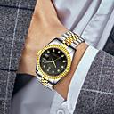 رخيصةأون ساعات الرجال-رجالي ساعة فستان كوارتز ستانلس ستيل فضة / ذهبي مقاوم للماء رزنامه إبداعي مماثل ترف موضة - ذهبي أبيض أسود