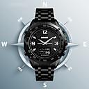 Недорогие Часы на металлическом ремешке-SKMEI Муж. Спортивные часы Нарядные часы Цифровой Нержавеющая сталь Черный / Серебристый металл 30 m Защита от влаги Календарь Секундомер Аналого-цифровые На каждый день Мода - Черный Серебряный