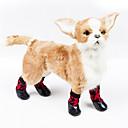 tanie Ubranka i akcesoria dla psów-Kot Psy Botki / Buty Codzienne Wodoodporny Kreskówki Czerwony Dla zwierząt domowych