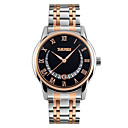 cheap Men's Watches-SKMEI Men's Dress Watch Quartz Stainless Steel Silver / Rose Gold 30 m Water Resistant / Waterproof Calendar / date / day Analog Classic Fashion - Black Blue Rose Gold