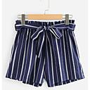 ieftine Becuri LED Corn-Pentru femei De Bază Zvelt Pantaloni Scurți Pantaloni - Dungi Negru Roșu-aprins Bleumarin S M L