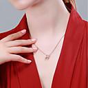 halpa Korvakorut-Naisten Kaulakoru Ruusukulta-päällystetty S925 Sterling Hopea Yksinkertainen Antiikin Rooma Ruusukulta 40+3 cm Kaulakorut Korut 1kpl Käyttötarkoitus Lahja Päivittäin
