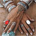 povoljno Prstenje-Žene Bijela Vintage Style Prsten Prstenasti set Opeka Legura Szám Perje pomodan Etnikai Moda Boho Modno prstenje Jewelry Pink Za Party Dnevno Ulica Kamado roštilj 7pcs