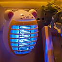 رخيصةأون سماعات أذن لاسلكية حقيقية-BRELONG® 1PC الصمام ليلة الخفيفة بنفسجي مدعوم من AC كارتون / لاسلكي / EU 100-240 V