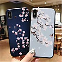 abordables Coques d'iPhone-Coque Pour Apple iPhone X / iPhone XS Max Dépoli / Motif Coque Fleur Flexible Le gel de silice pour iPhone XS / iPhone XR / iPhone XS Max