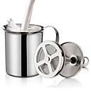 ieftine Ustensile Bucătărie & Gadget-uri-cremă dublă de lapte cremă din oțel inoxidabil lapte pentru spumă pentru cappuccino lapte de ciocolată ouă beater bucătărie unealtă gadgets