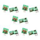 ieftine Module-5pcs 433mhz rf wireless transmitator și receptor modul de legătură kit pentru arduino / braț / mcu / zmeură pi / wireless diy