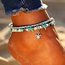 ieftine Bijuterii de Corp-Pentru femei Turcoaz gleznă brățară picioare bijuterii Multistratificat Dublu Broasca testoasa Stea de mare femei Boem Έθνικ Modă Boho Brățară Gleznă Bijuterii Argintiu Pentru Ieșire Plajă Bikini