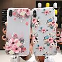 رخيصةأون أغطية أيفون-غطاء من أجل Apple iPhone XS / iPhone XR / iPhone XS Max مثلج / نموذج غطاء خلفي فراشة / زهور ناعم TPU