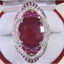 ieftine Ceasuri de Cupluri-Pentru femei Inel de Logodnă Acvamarin 1 buc Rosu Articole de ceramică Geometric Shape Stilat / Lux Petrecere / Logodnă Costum de bijuterii