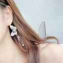 ieftine Benzi Flexibile Becuri LED-Pentru femei Multicolor Perle Cercei Picătură Fluture Corean Perle Diamante Artificiale Argintiu cercei Bijuterii Auriu Deschis / Bleumarin Pentru Zilnic 1 Pair