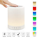 cheap Car Headlights-1pc USB Night Light Bluetooth Speaker Touch Sensor Bedside Table Lamp Dimmable Color Changing Night Light Desk Lamp with Mic Support AUX TF Card 36 V