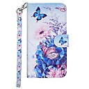 رخيصةأون Nokia أغطية / كفرات-غطاء من أجل نوكيا نوكيا 7.1 / Nokia 6 2018 / Nokia 5 محفظة / حامل البطاقات / مع حامل غطاء كامل للجسم فراشة / زهور قاسي جلد PU