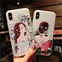 رخيصةأون أغطية أيفون-غطاء من أجل Apple iPhone XS / iPhone XR / iPhone XS Max مثلج / نموذج غطاء خلفي كارتون / زهور ناعم TPU