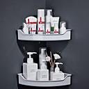 billige Badeværelsesartikler-Badeværelseshylde Selvklæbende Plastik 1pc Vægmonteret