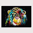 ieftine Imprimeu-Imprimeu Imprimate în rulouri de pânză Imprimeuri pânză întinse - Abstract Animale Clasic Modern Tablouri de artă