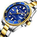 ieftine Ceasuri Bărbați-Bărbați ceas mecanic Mecanism manual Oțel inoxidabil Argint 30 m Calendar Iluminat Analog Modă - Negru Verde Albastru