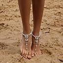 preiswerte Barfußsandalen-Damen Barfußsandalen Künstliche Perle nette Art Fusskettchen Schmuck Silber Für Alltag