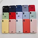 رخيصةأون أغطية أيفون-حالة لتفاح iphone xr / iphone xs max متجمد الغطاء الخلفي الصلبة الملونة لينة tpu آيفون x xs 8 8 زائد 7 7 زائد 6 6 ثانية 6 زائد 6 ثانية زائد