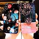 olcso iPhone tokok-Case Kompatibilitás Apple iPhone XS Max / iPhone 6 Minta Fekete tok Virág Puha Szilikon mert iPhone XS / iPhone XR / iPhone XS Max