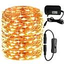 رخيصةأون أضواء شريط LED-KWB 20m أضواء سلسلة 200 المصابيح 1 كابلات دس / 1 X 12V 3A التيار الكهربائي أبيض دافئ / أبيض / أزرق جميل / تصميم جديد / زفاف 100-240 V 1SET