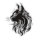 رخيصةأون سترات و بدلات الرجال-أزياء الحيوانات الأليفة القط الطوطم الخدش الشارات ملصقات السيارات كامل الجسم ملصق سيارة التصميم