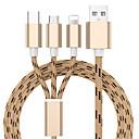 ieftine Machiaj & Îngrijire Unghii-3 în 1 cablu de încărcare usb pentru iphone x 8 7 6 5 cablu micro usb tip c
