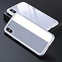 رخيصةأون أغطية أيفون-الحال بالنسبة لتفاح iphone 6 / iphone xs max الغطاء الخلفي شفاف شفاف / الصلبة الملونة الزجاج المقسى ل iphone 6 / iphone 6s / iphone 6s plus