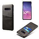 Недорогие Чехлы и кейсы для Galaxy S6-Кейс для Назначение SSamsung Galaxy Galaxy S10 / Galaxy S10 Plus / Galaxy S10 E Бумажник для карт / Защита от пыли / Защита от влаги Кейс на заднюю панель Однотонный Твердый Кожа PU / ПК