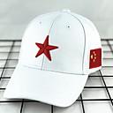 رخيصةأون قبعات الرجال-أبيض أسود قبعة البيسبول لون سادة رجالي بوليستر,أساسي