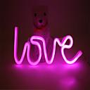 ieftine Lumini Nocturne LED-1 buc LED-uri de lumină de noapte Roșu / Roz Baterii AA alimentate Creative 5 V