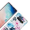 olcso Galaxy S tokok-Case Kompatibilitás Samsung Galaxy Galaxy S10 / Galaxy S10 Plus / Galaxy S10 E IMD / Minta Fekete tok Virág / Márvány TPU