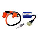 ieftine Benzi Lumină LED-bujie cu bujii de înaltă performanță& ac cdi pentru gy6 kit 50/125 / 150cc