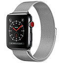 billige Apple Watch-remmer-milan armbåndsur eple stropp 44mm / 40mm / 42mm / 38mm iwatch4 / 3/2/1 rustfritt stål kjede stål armbånd magnetisk spenne