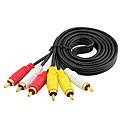 billige Audio- og videokabler-3rca til 3rca 3x rca aux audio video kabel af linje til bærbar dvd tv forstærker