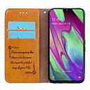 Недорогие Чехлы и кейсы для Galaxy Note-Кейс для Назначение SSamsung Galaxy Samsung Galaxy A40 (2019) Бумажник для карт / Флип Чехол Однотонный Твердый Кожа PU